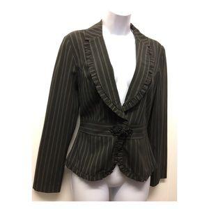 My Michelle   Pinstriped Blazer Jacket Knit Clasp